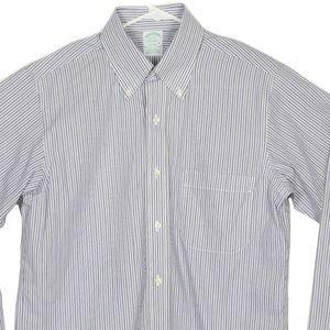NWT Brooks Brothers Milano Dress Shirt Striped 15